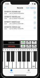 MIDI Recorder iPhone