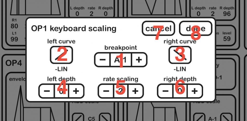 Dixie keyboard scaling